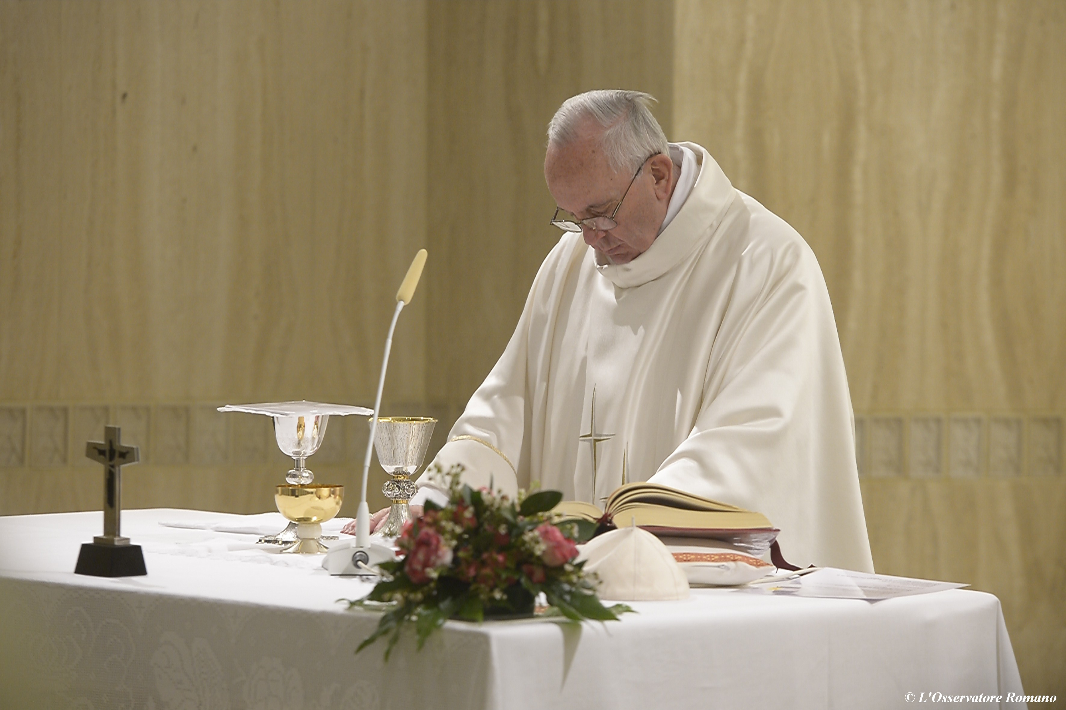 Pope Francis celebrates Mass in the Domus Sanctae Marthae