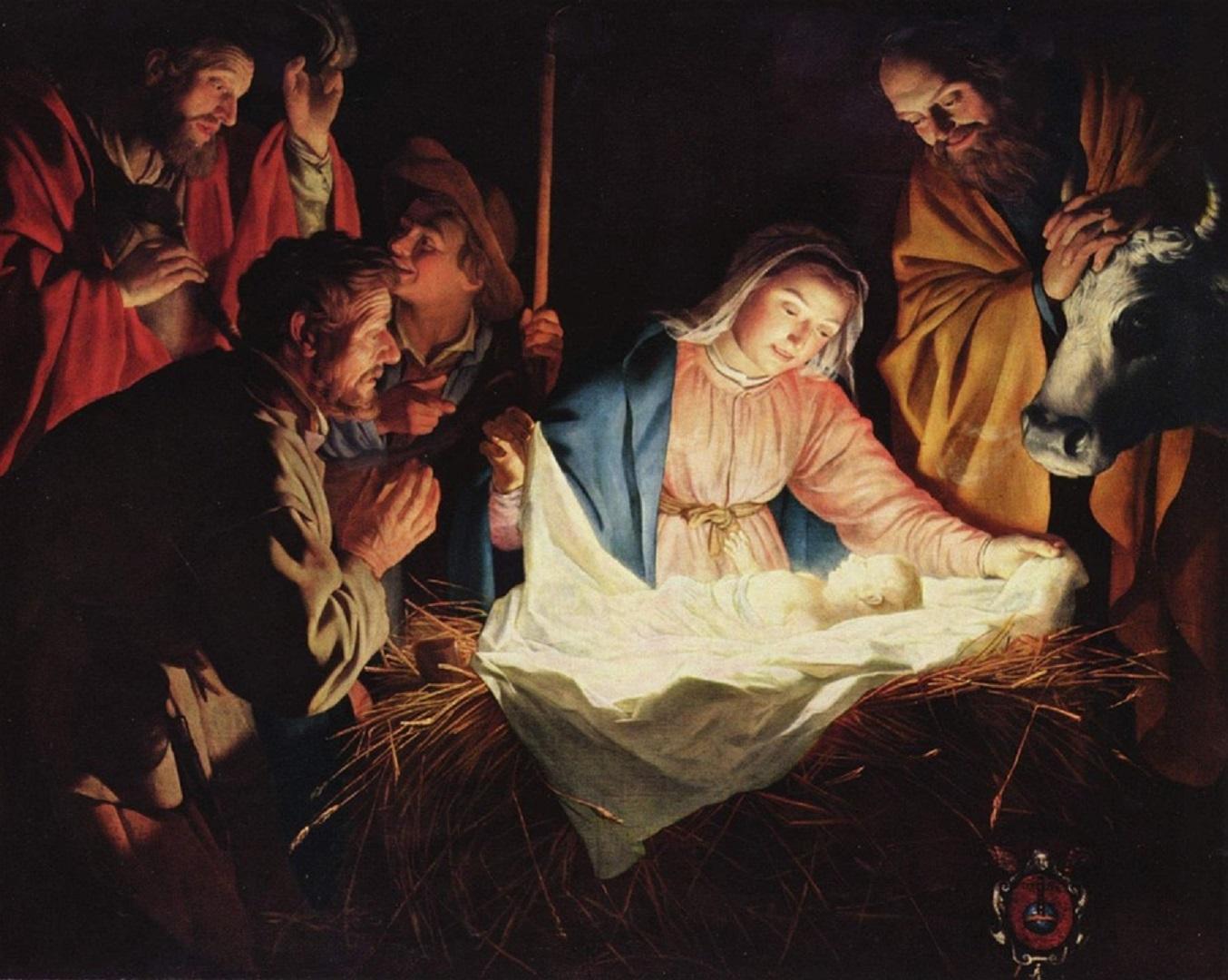 Nativity scene - Gerard van Honthorst (1592 - 1656)