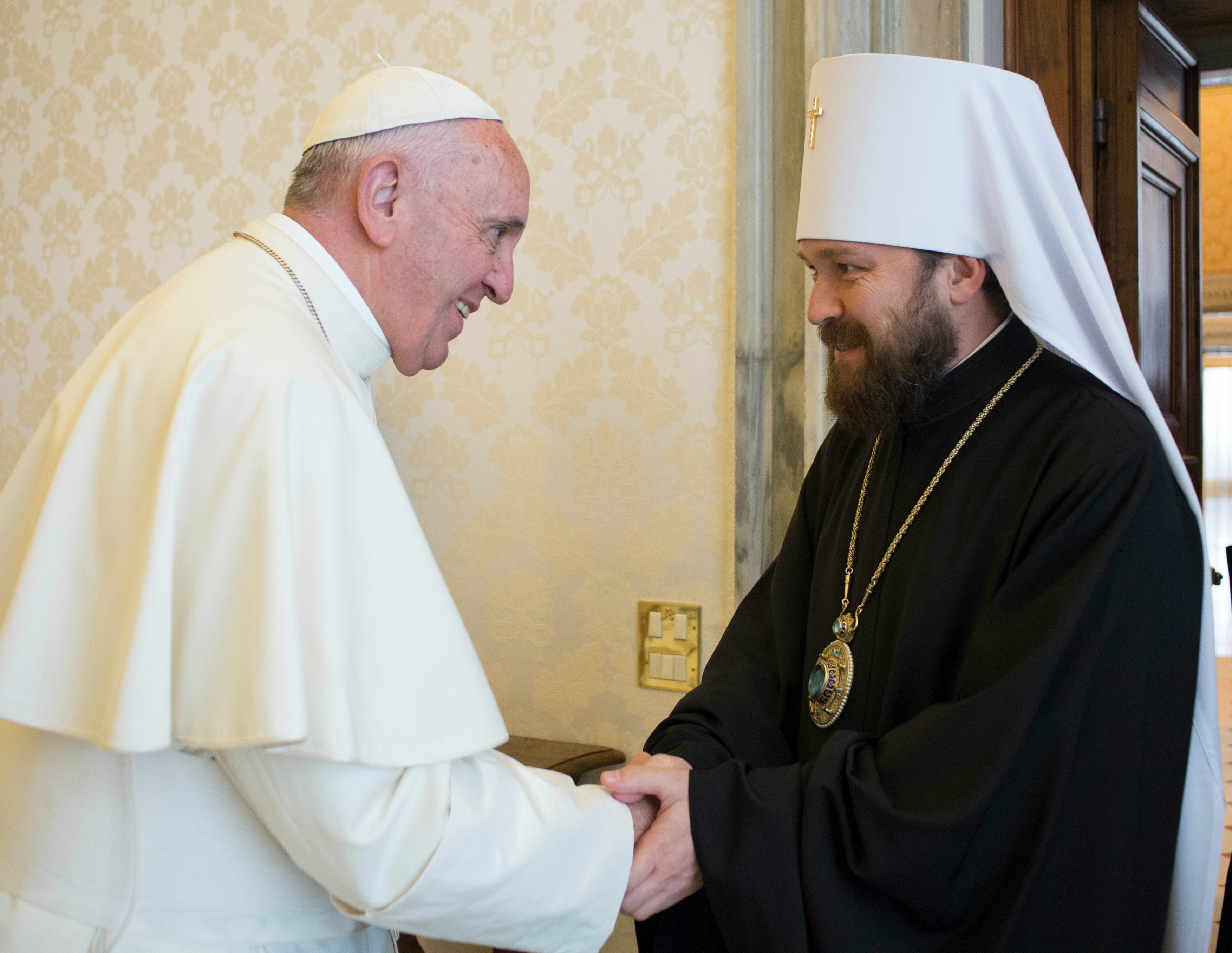 Pope Francis receives Hilarion of Volokolamsk