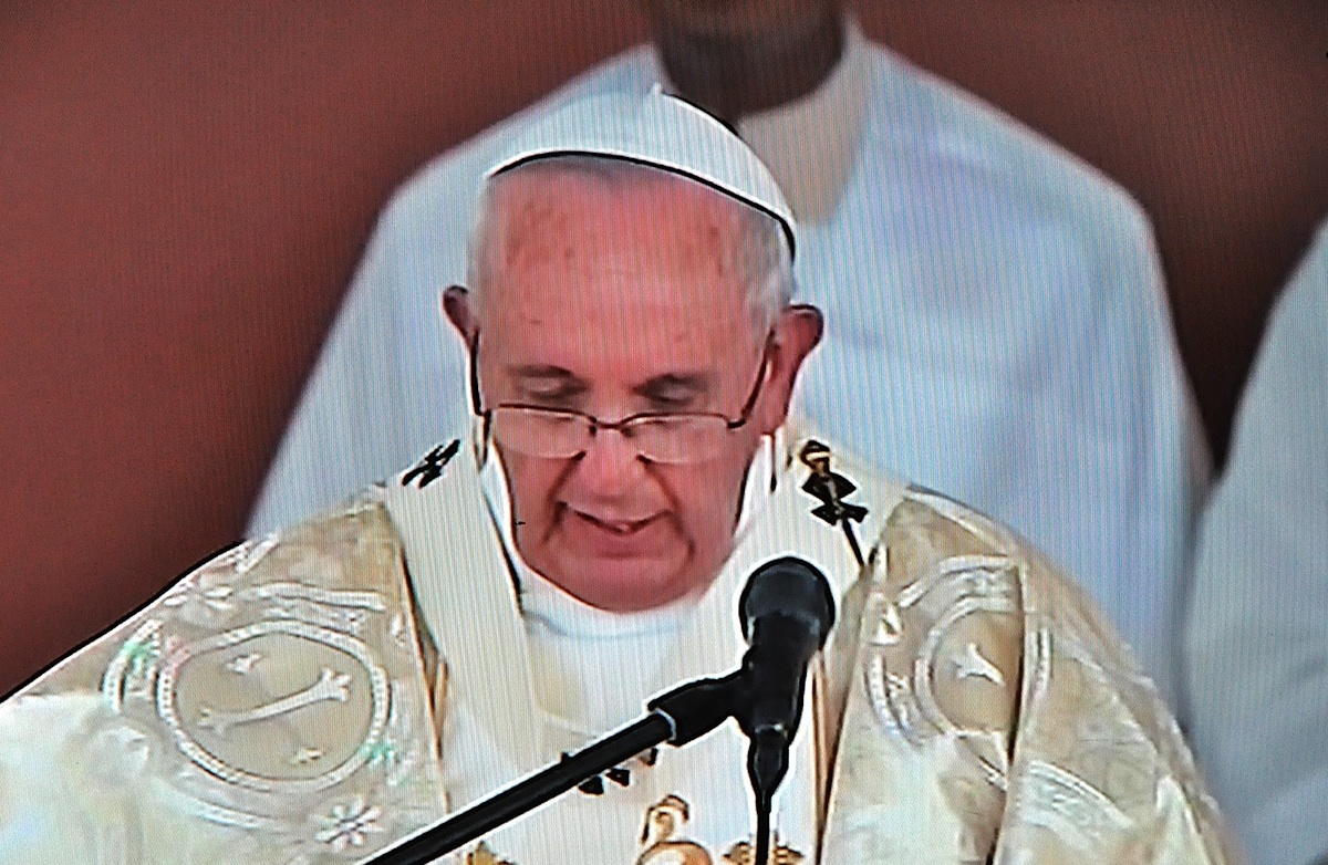 Pope Francis in the homily at Los Samanes