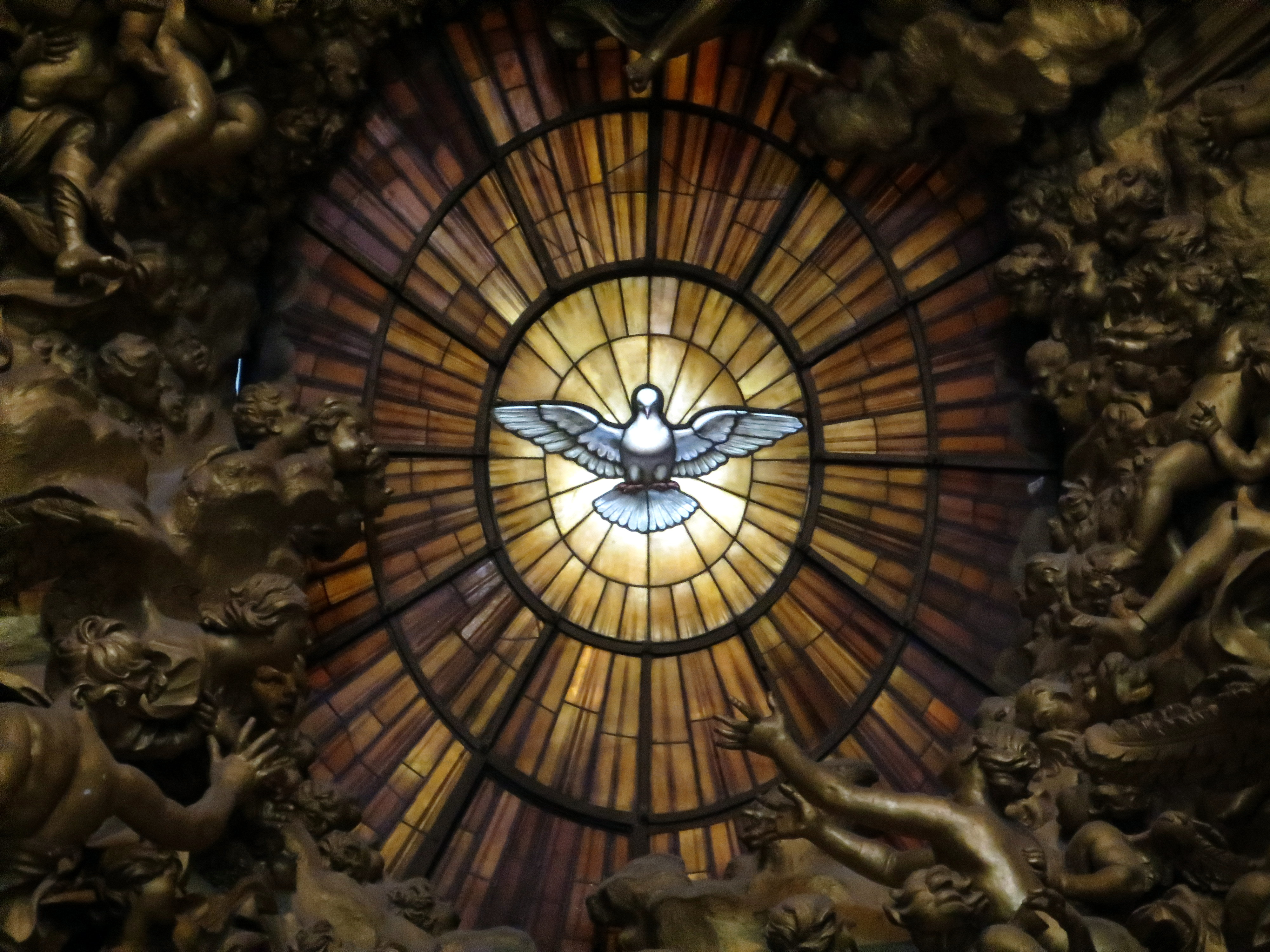 Dove of the Holy Spirit in Saint Peter's Basilica