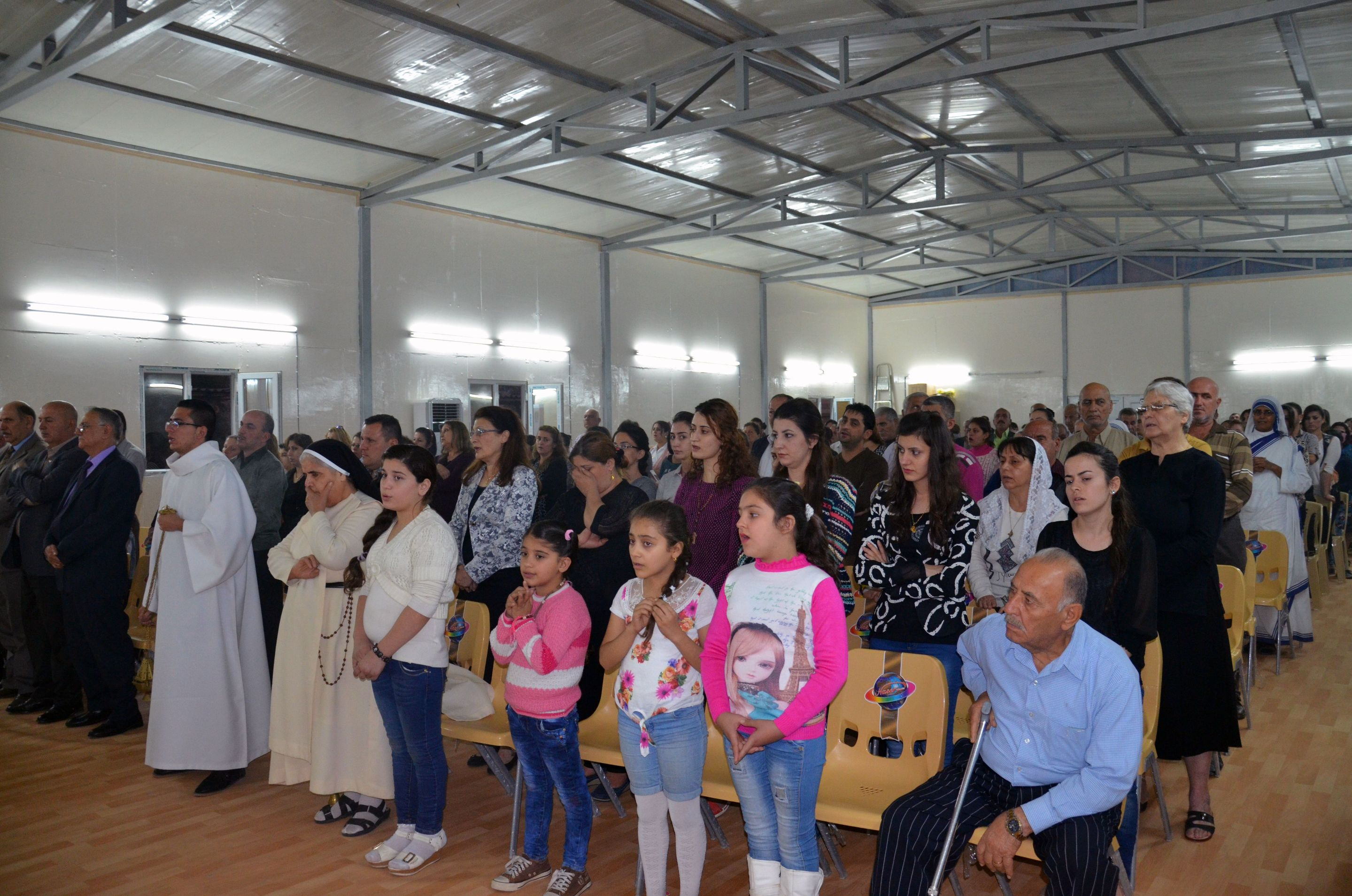Holy Mass in the new chapel for ISIS-refugees in Bagdad
