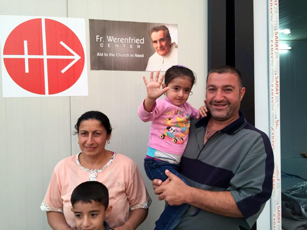 Family of christian refugees in Erbil