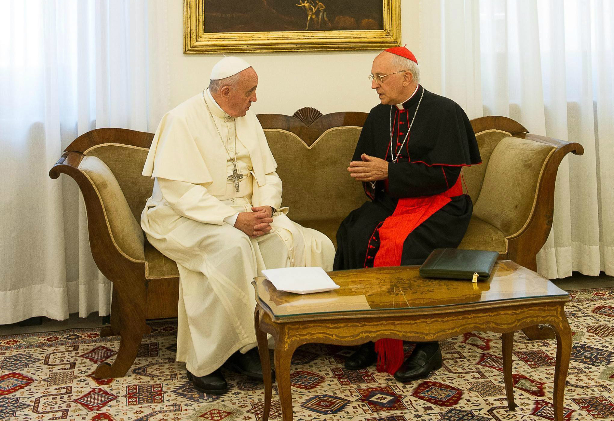 Pope Francis meeting his personal envoy to Iraq