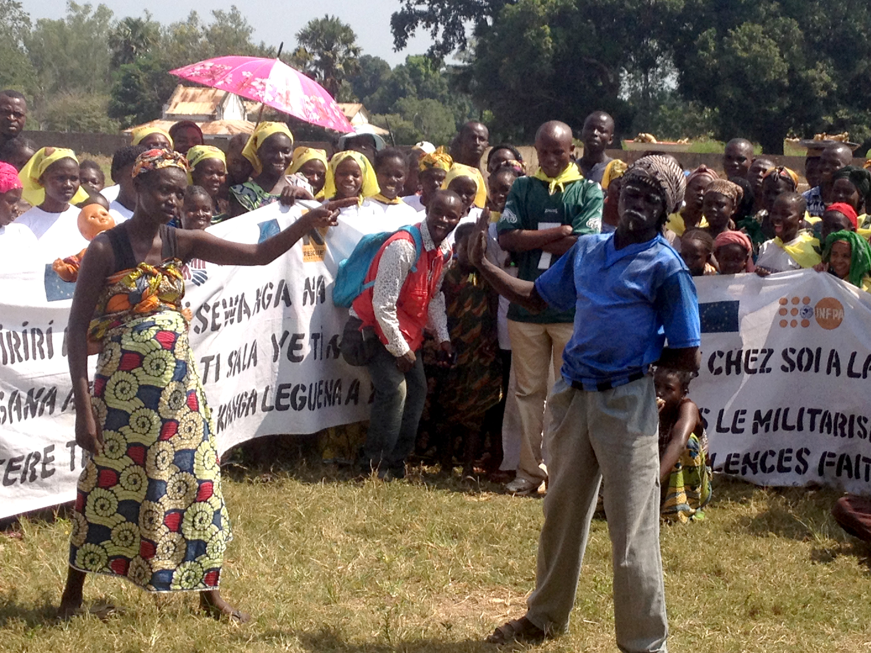 Demonstation in Central Africa Republic