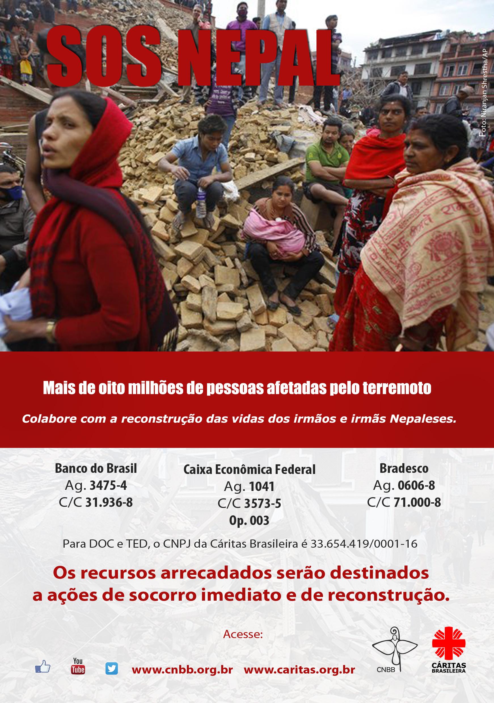 Cáritas ajudando vítimas do terremoto do Nepal