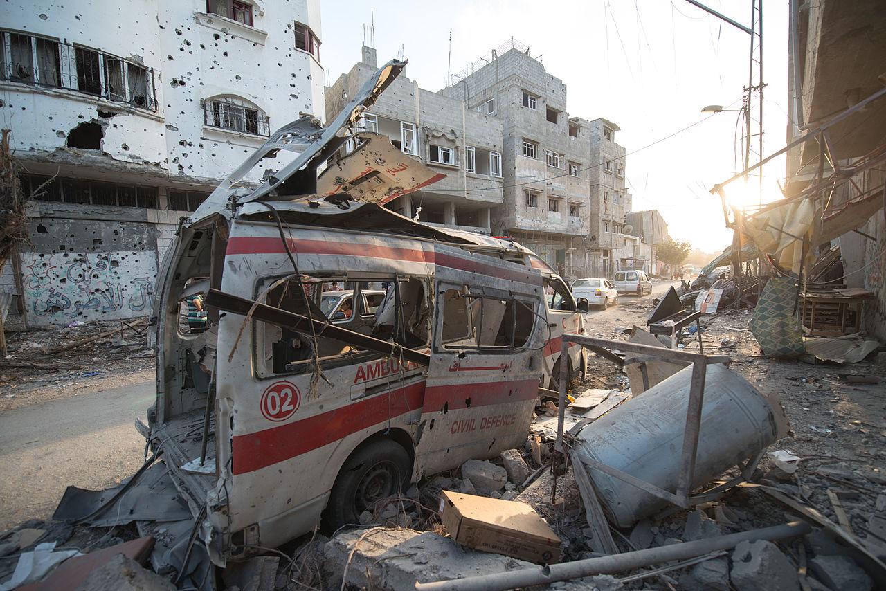 War destruction in the Gaza Strip