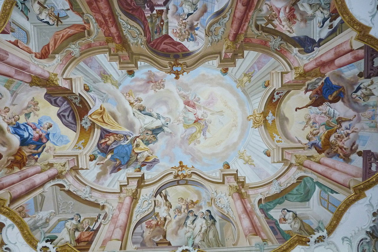 Ceiling fresco in the Ebner Chapel