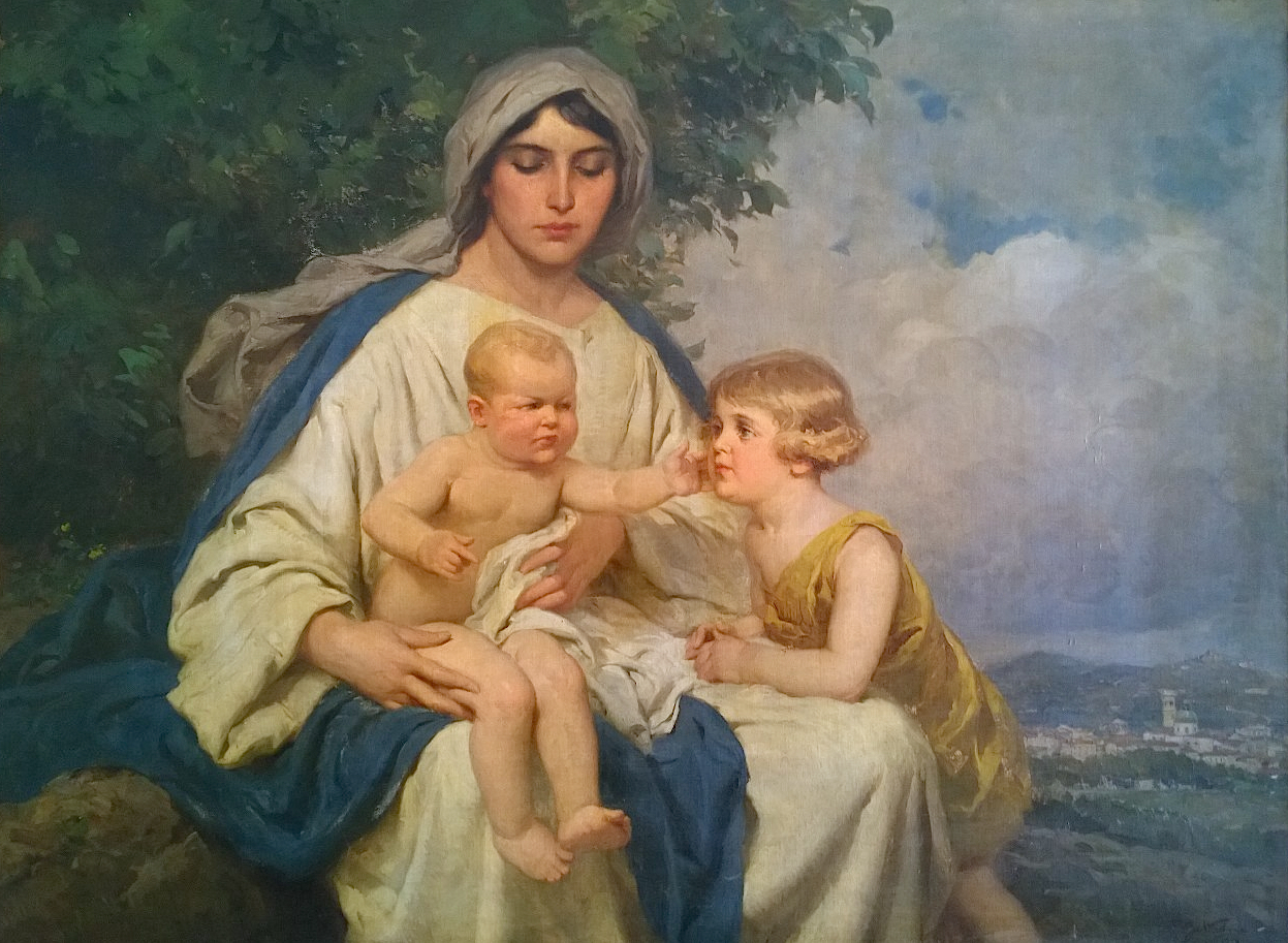 Blessed Virgin Mary with Jesus and Joannes Battista