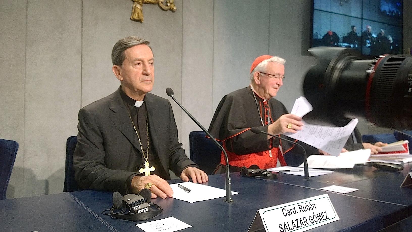 Cardinal NIchols and Salazar - Briefing 14 October 2015