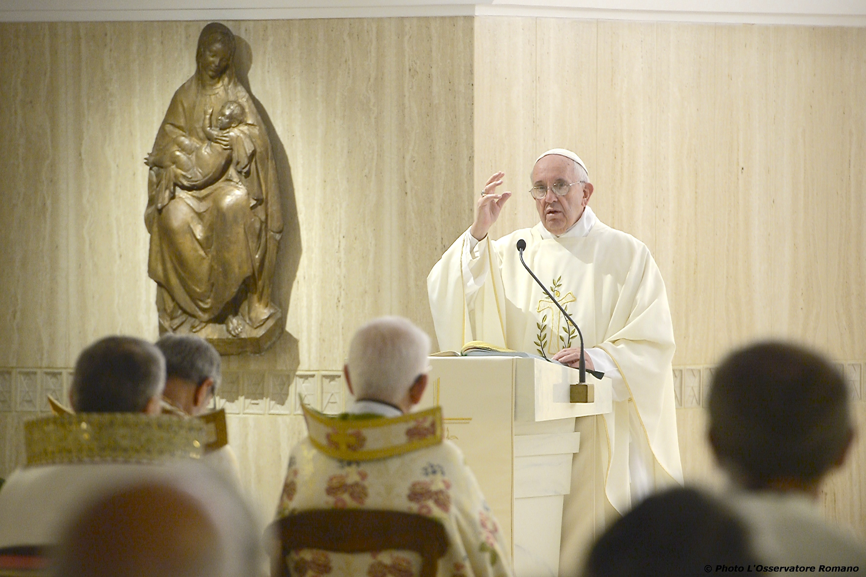 Pope Francis in Sta. Marta mass - 7 September 2015