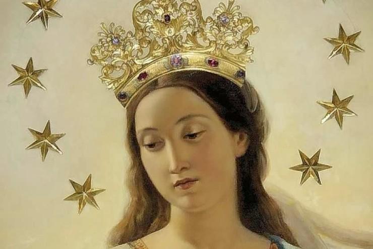 Tableau De La Vierge Marie, Couronnée, Église Sant'Andrea Delle Fratte, Rome