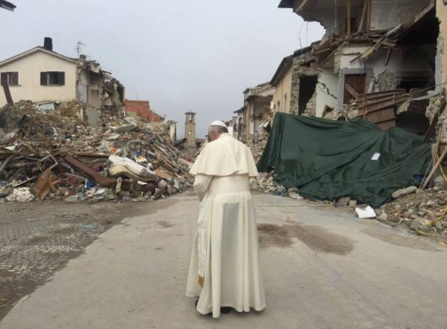 Pope Francis in Amatrice
